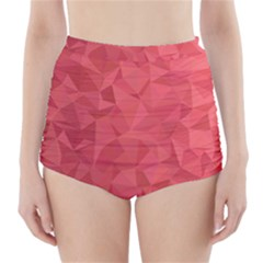 Triangle Background Abstract High-Waisted Bikini Bottoms