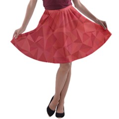 Triangle Background Abstract A-line Skater Skirt