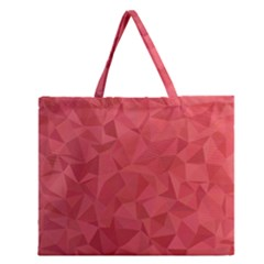 Triangle Background Abstract Zipper Large Tote Bag