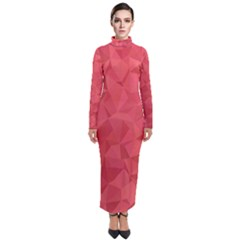 Triangle Background Abstract Turtleneck Maxi Dress