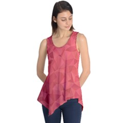 Triangle Background Abstract Sleeveless Tunic