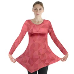 Triangle Background Abstract Long Sleeve Tunic