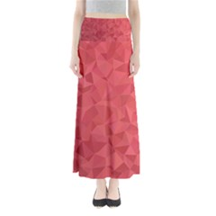 Triangle Background Abstract Full Length Maxi Skirt