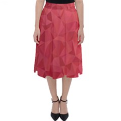 Triangle Background Abstract Classic Midi Skirt
