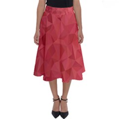 Triangle Background Abstract Perfect Length Midi Skirt