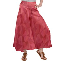 Triangle Background Abstract Satin Palazzo Pants