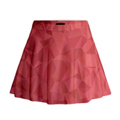 Triangle Background Abstract Mini Flare Skirt