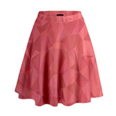 Triangle Background Abstract High Waist Skirt