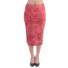 Triangle Background Abstract Midi Pencil Skirt