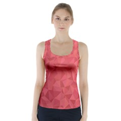 Triangle Background Abstract Racer Back Sports Top