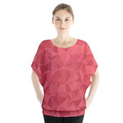 Triangle Background Abstract Batwing Chiffon Blouse
