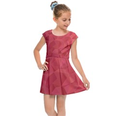 Triangle Background Abstract Kids  Cap Sleeve Dress