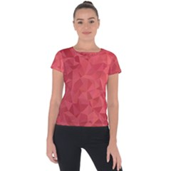 Triangle Background Abstract Short Sleeve Sports Top