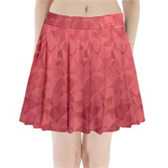 Triangle Background Abstract Pleated Mini Skirt