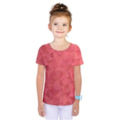 Triangle Background Abstract Kids  One Piece Tee