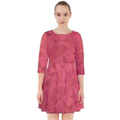 Triangle Background Abstract Smock Dress