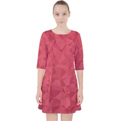 Triangle Background Abstract Pocket Dress