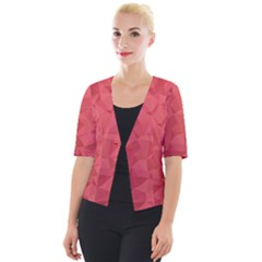 Triangle Background Abstract Cropped Button Cardigan