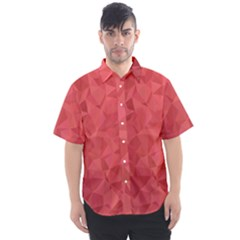 Triangle Background Abstract Men s Short Sleeve Shirt