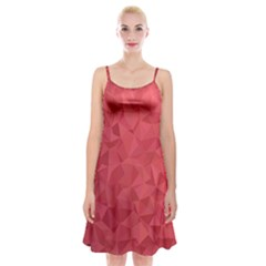 Triangle Background Abstract Spaghetti Strap Velvet Dress