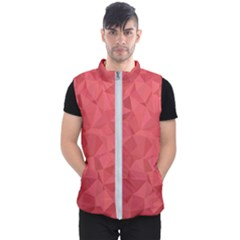 Triangle Background Abstract Men s Puffer Vest