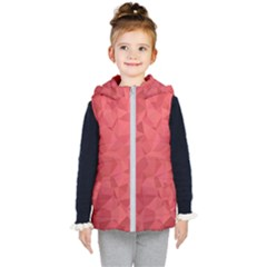 Triangle Background Abstract Kids  Hooded Puffer Vest
