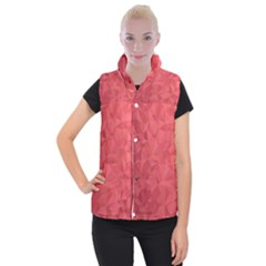Triangle Background Abstract Women s Button Up Vest