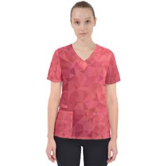 Triangle Background Abstract Women s V-Neck Scrub Top
