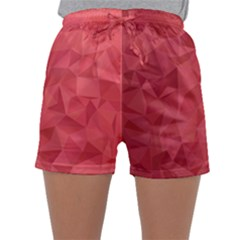Triangle Background Abstract Sleepwear Shorts