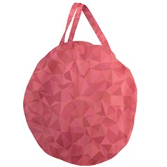 Triangle Background Abstract Giant Round Zipper Tote
