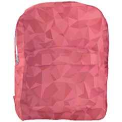 Triangle Background Abstract Full Print Backpack