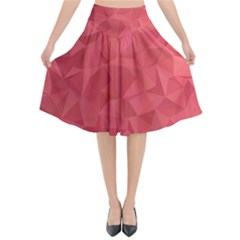 Triangle Background Abstract Flared Midi Skirt