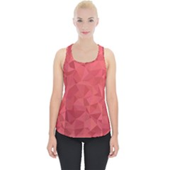 Triangle Background Abstract Piece Up Tank Top