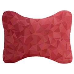 Triangle Background Abstract Velour Seat Head Rest Cushion