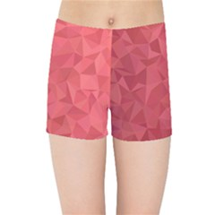 Triangle Background Abstract Kids  Sports Shorts