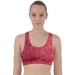 Triangle Background Abstract Back Weave Sports Bra