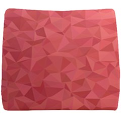 Triangle Background Abstract Seat Cushion