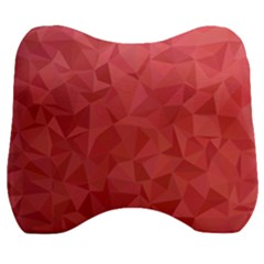 Triangle Background Abstract Velour Head Support Cushion