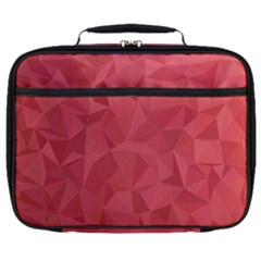 Triangle Background Abstract Full Print Lunch Bag