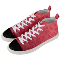 Triangle Background Abstract Men s Mid-Top Canvas Sneakers