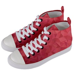Triangle Background Abstract Women s Mid-Top Canvas Sneakers