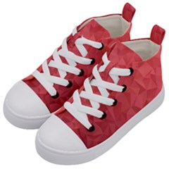 Triangle Background Abstract Kids  Mid-Top Canvas Sneakers