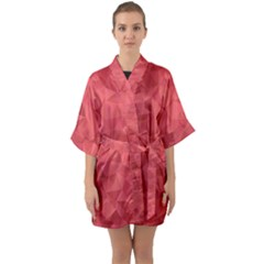 Triangle Background Abstract Quarter Sleeve Kimono Robe by Mariart