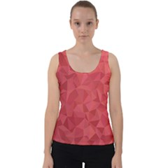 Triangle Background Abstract Velvet Tank Top