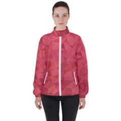 Triangle Background Abstract High Neck Windbreaker (Women)