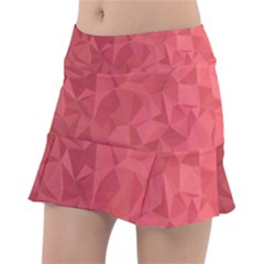 Triangle Background Abstract Tennis Skirt