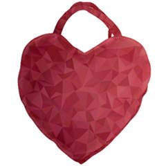 Triangle Background Abstract Giant Heart Shaped Tote