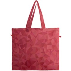 Triangle Background Abstract Canvas Travel Bag