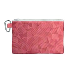 Triangle Background Abstract Canvas Cosmetic Bag (Medium)