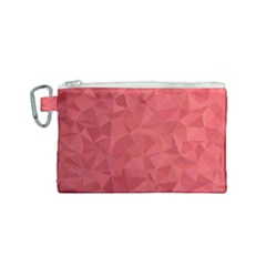 Triangle Background Abstract Canvas Cosmetic Bag (Small)
